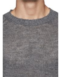 Acne Studios - Gray 'collins' Long Sweater for Men - Lyst