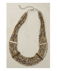 Anthropologie | Blue Lumina Beaded Bib Necklace | Lyst