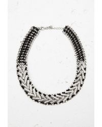 Forever 21 - Metallic Ribbon-threaded Statement Necklace - Lyst