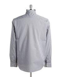 Victorinox | Gray Checkered Poplin Sportshirt for Men | Lyst