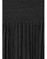 Autumn Cashmere | Gray Dark Grey Pleated Cashmere Jumper | Lyst