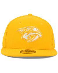 KTZ - Yellow Nashville Predators C-dub 59fifty Cap for Men - Lyst