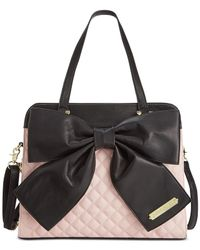 Betsey Johnson - Pink Bow Tote - Lyst