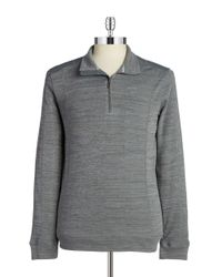 Calvin Klein | Gray Heathered Zip Placket Top for Men | Lyst