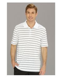 Adidas | White Puremotion™ 2-color Stripe Jersey Polo '15 for Men | Lyst