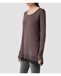 AllSaints - Purple Miro Long Sleeved Top Usa Usa - Lyst