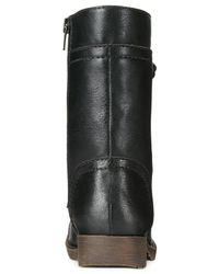 Rampage - Black Jeliana Lace-up Combat Booties - Lyst