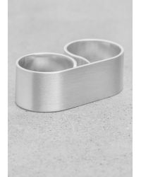 & Other Stories Metallic Polished Double Ring