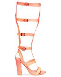 Steve Madden Pink By Iggy Azalea Bout-It Gladiator Dress Sandals