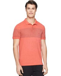 Calvin Klein Jeans - Pink Pigment Dye Stripe Polo Shirt for Men - Lyst