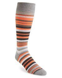 Hook + Albert - Green 'ellington' Stripe Socks for Men - Lyst