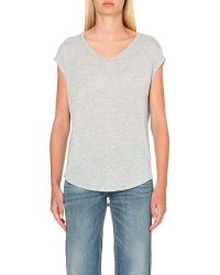 Rag & Bone - Gray V-neck Jersey T-shirt - Lyst