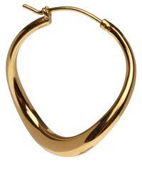 Dinny Hall - Metallic Small Gold Vermeil Wave Hoop Earrings - Lyst