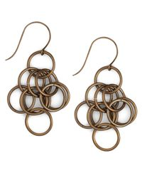 Nest | Metallic Loop-chain Earrings | Lyst