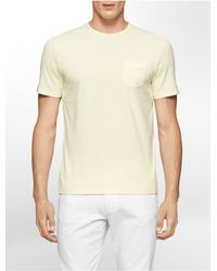 Calvin Klein - Yellow White Label Classic Fit Jersey Cotton T-shirt for Men - Lyst