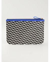 Pierre Hardy - Blue Geometric Print Clutch for Men - Lyst