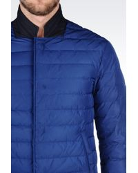 Armani   Blue Down Jacket In Technical Fabric for Men   Lyst