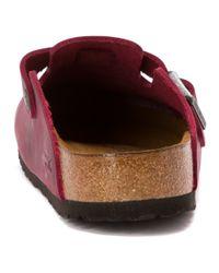 Birkenstock Purple Boston Soft Footbed for men