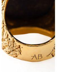 Aurelie Bidermann | Metallic 'miki Dora' Signet Ring | Lyst