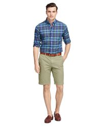 "Brooks Brothers | Green Garment-dyed 11"" Bermuda Shorts for Men 