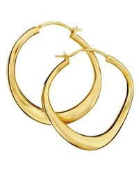Dinny Hall | Metallic Small Gold-plated Wave Hoop Earrings | Lyst