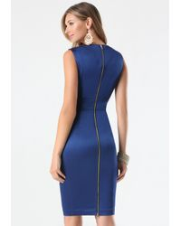 Bebe Blue Tiana Paneled Dress