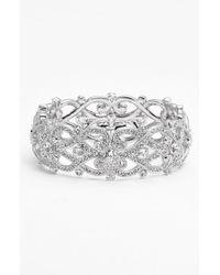 Nadri Metallic 'celtic Knot' Crystal Bangle