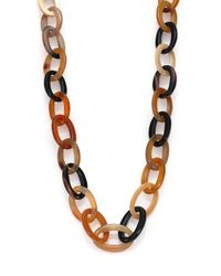 Nest | Brown Natural Horn Long Link Necklace | Lyst