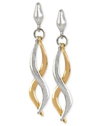 Robert Lee Morris | Metallic Two-tone Sculptural Twist Linear Earrings | Lyst