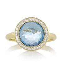 Ippolita - Metallic Gelato 18karat Gold Topaz and Diamond Ring - Lyst