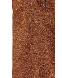 Isa Arfen Brown Copper Lurex Sleeveless Tunic Length Top