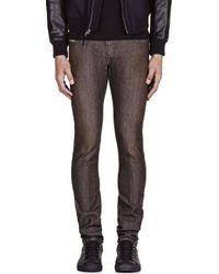 DIESEL Brown Washed Slim Jeans for men