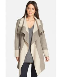 Diane von Furstenberg Brown 'mackenzie' Two-tone Cozy Coat