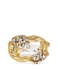 Erickson Beamon Metallic 'cosmic Code' Swirl Wire Crystal Bracelet