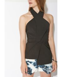 Forever 21 - Black Ministry Of Style Halter Top - Lyst