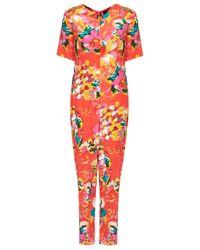 TOPSHOP Multicolor Tropical Print Jumpsuit By Boutique
