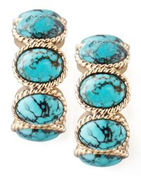 Stephen Dweck | Blue Turquoise Cabochon Hoop Earrings | Lyst