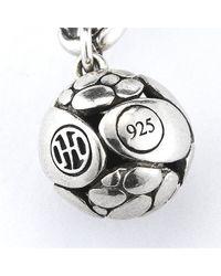 John Hardy - Metallic Pre-Owned: Sterling Silver Kali Pebble Link Bracelet for Men - Lyst