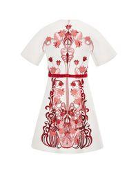 Giamba - Red Liberty Jacquard Pleated Kimono Dress - Lyst