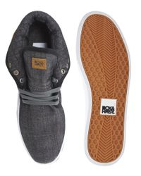 Beck & Hersey - Blue Midtop Quilt Trainers for Men - Lyst