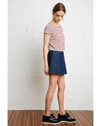 Forever 21 | Natural Boxy Nautical Striped Tee | Lyst