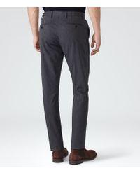 Reiss - Blue Shelter Cotton Trousers for Men - Lyst