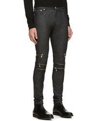 Versus Blue Indigo Skinny Zipper Jeans for men