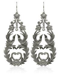 Laurent Gandini - Metallic Silver Primavera Earrings - Lyst