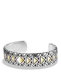 David Yurman - Yellow Cuff Bracelet With 18k Gold - Lyst