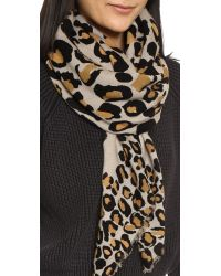 Marc By Marc Jacobs - Multicolor Painted Leopard Scarf - Sandbox Multi - Lyst
