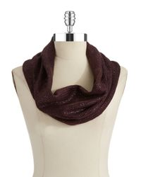 William Rast | Red Knit Infinity Scarf | Lyst