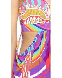 Mara Hoffman | Purple Cutout Maxi Dress - Rainbow Bird Lilac | Lyst