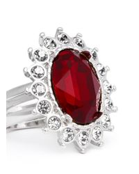 Kenneth Jay Lane - Red Ruby Crystal Ring - Lyst