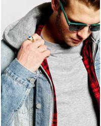 ASOS - Metallic Eye Ring for Men - Lyst